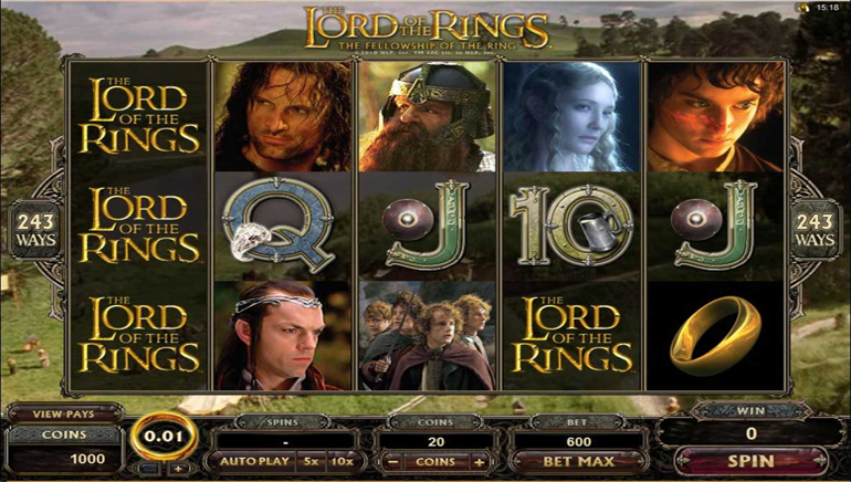 Lord of the Rings Hits Online Casinos