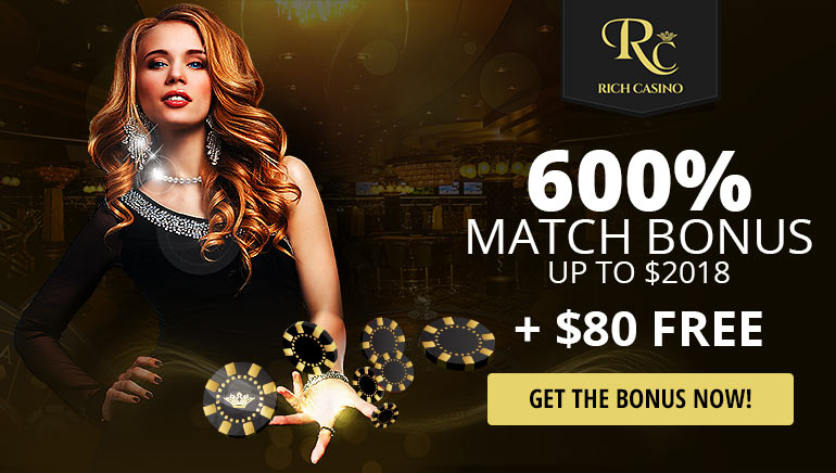 Rich Casino Ushers in the New Year with a 600% Bonus + $80 Free